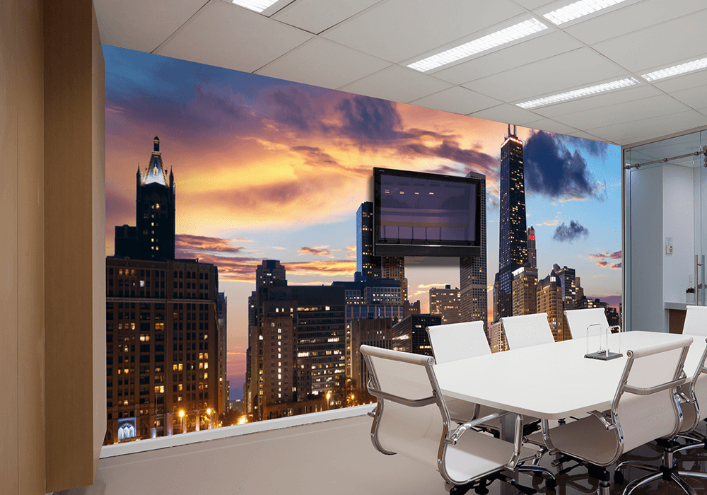 Custom Office Wallpaper and Wall Wraps